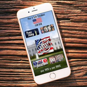 president_2016_election_polls_android_ios_app_game_2048_application